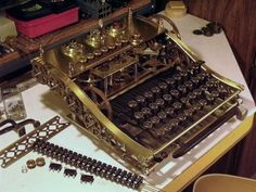 A Steampunk Keyboard for the Steampunk Console Computer
