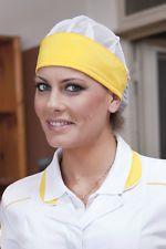 PAGAMENTO ANCHE ALLA CONSEGNA Cuffia Cappello Berretto Donna da lavoro Alimentare Cuoco Abbigliamento Abiti