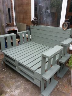 Recycled Pallet Lounger #Chair, #Garden, #Lounge, #RecycledPallet