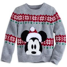 Santa Mickey Mouse Sweater for Boys