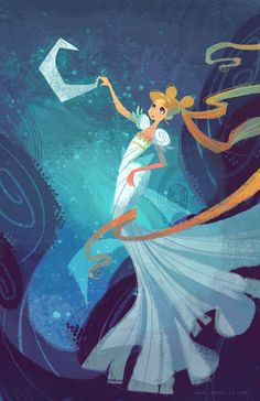 Serenity on the Moon | by nna (Ann Marcellino) @ DeviantART.com // #sailormoon