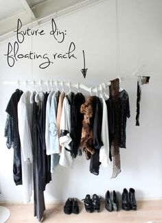 + DIY Clothing Rack +