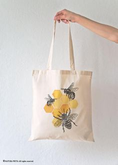 Items similar to Bee tote bag-honey bee tote bag-save bees tote bag-insect tote bag-tote bag-grocery tote bag-shopping bag-bees tote bag-NATURA PICTA on Etsy Diy Tote Bag, Tote Bags Handmade, Custom Tote Bags, Save The Bees, Cotton Bag, Shibori, Canvas Tote Bags, Purses, Etsy