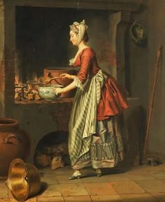 Pehr Hillestrom (Swedish artist, 1732-1816) A Maid Taking Soup From a Cauldron ca. 1798