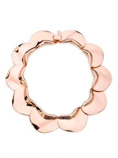 Our gold petal collar is the perfect gift for your drama queen friend... sure to make a statement!