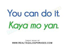 Learn how to speak Tagalog through commonly used Tagalog phrases. Tagalog Words, Filipino Words, Filipino Culture, Filipiniana, Pinoy, My Passion, English Language, Vocabulary, Philippines