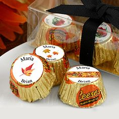 Fall Themed Wedding Hershey Reese's | Chocolate Party Favors | Wedding Favors
