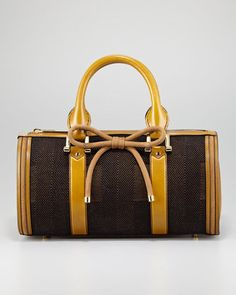 919f88049a82 Burberry Tweed Bowler Bag