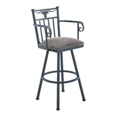 "Callee Longhorn 34"" Swivel Bar Stool Frame Finish: Sun Bronze, Upholstery: Bacova Barley"