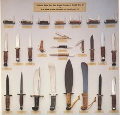 World War II military knives manufactured by Case Cutlery