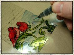 Alcohol ink techniques used to make Beautiful gift tags  || This looks like soooo much fun!~