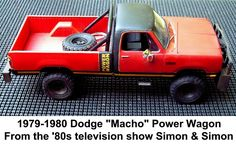 My dream truck from SIMON & SIMON! I finally got a POWER WAGON Later on it was a 1979 Dodge Power wagon Short Bed I loved that truck wish I still had it!!