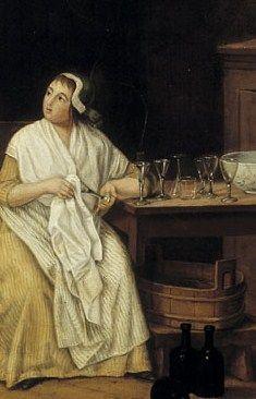 Pehr Hilleström, woman cleaning a glass