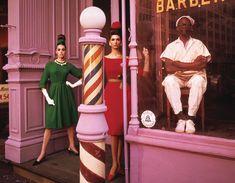Antonia + Simone + Barber Shop, New York, Etats-Unis, 1961