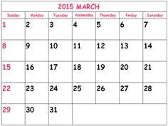 2015 calendar, 2015 calendar with holidays and Calendar on Pinterest
