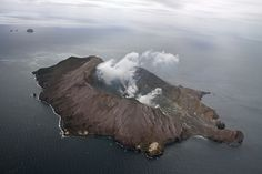 White Island, New Zealand. I think this is the most active volcano in New Zealand right now
