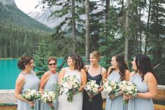Jessica   Steven: Emerald Lake Wedding. Wedding Party, Bridesmaids