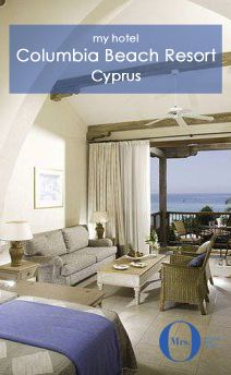 The Columbia Beach Resort, in Cyprus, is my kind of place: away from the crowds, small, and private. The panorama suite was welcoming and inviting, offering stunning views.