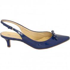 Rosette nude lana patent kitten heel slingback shoes - Peter ...