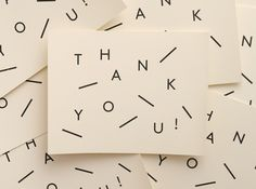 """Thank you!"" card."