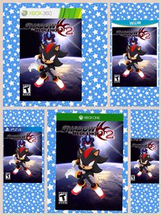 "I made these and they're ideas for a ""Shadow the Hedgehog 2"" game cover for Wii U, Xbox 360 and One and Playstation 3 and 4."
