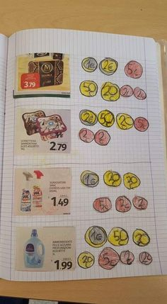 Melissa saved to okinawaTeken het geld of hoeveel . - Melissa saved to okinawaTeken het geld of hoeveel Math Classroom, Kindergarten Math, Teaching Math, Preschool, Counting Coins, Counting Money, Material Didático, Primary Maths, Second Grade Math
