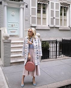 <pastel plaid // now on the blog ☁️> http://liketk.it/2pnqb @liketoknow.it #liketkit @nordstrom #nordstrom #pastels #pink #babyblue