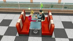 Prom king Griffin and Prom Queen sharing a milkshake