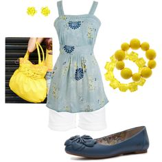 Summer! Pops of Yellow, created by amyjoyful1 on Polyvore