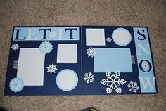 winter scrapbooking page idea | Stampin' Up and Scrapbooking