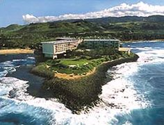 For golf on the North Shore - Turtle Bay is a great (and only) resort around.  It also has a nice spa and beachside terrace to have a drink.