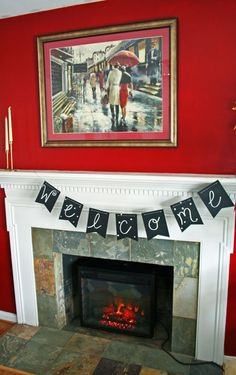 Love this pre-made chalkboard banner kit that is so versatile and pretty!   www.rappsodyinrooms.com