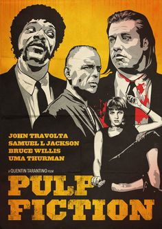 Pulp Fiction Poster by oldredjalopy.deviantart.com