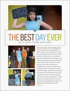 Cute story idea OR senior ad layout.