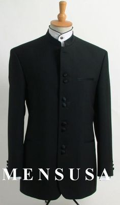 Best Quality Black Mandarin Collar Tuxedo Suit Light Weight Soft Fabric | MensITALY  Price: US $229