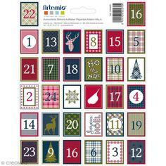 Compra nuestros productos a precios mini Pegatinas sellos decorativos - Navidad Escocesa Adviento - 3,3 x 2,7 cm - 64 uds - Entrega rápida, gratuita a partir de 89 € !
