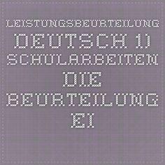 LEISTUNGSBEURTEILUNG DEUTSCH Nach Windischgarsten Math Equations, Deutsch, School