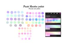 Pastel Rainbow Procreate palette / Pastel color palette/ 3 color swatches / instant download Pastel Colour Palette, Pastel Colors, Rainbow Colors, Color Swatches, Create A Logo, Clip Art, Etsy, Pastel Colours, Rainbow Colours