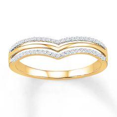 Diamond Ring 1/6 ct tw Round-cut 10K Yellow Gold