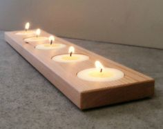 Candle Holder Modern Wood Home Accents Home by andrewsreclaimed
