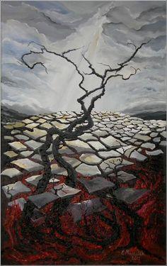 między piekłem a niebem - obraz na płótnie artist: Edyta Muszelik