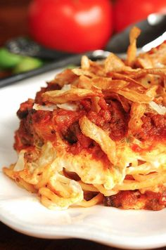 Baked Spaghetti!  Made this for dinner tonight and it was yummo!  This would be a great Mommy meal to take to someone!