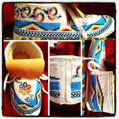 These are awesome. Powwow Beadwork, Powwow Regalia, Indian Beadwork, Native Beadwork, Native American Clothing, Native American Regalia, Native American Crafts, Native American Beadwork, Beaded Moccasins