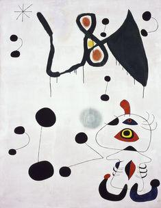 Femme et oiseau dans la nuit 1944 Joan Miro