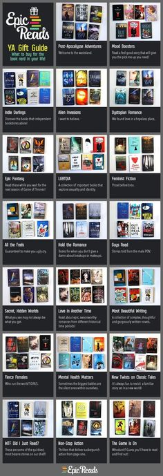 The Essential 2015 YA Book Buying Guide The 2015 Epic Reads Young Adult Gift Buying Guide The post The Essential 2015 YA Book Buying Guide appeared first on Film. Ya Books, I Love Books, Good Books, Books To Read In Your Teens, Book Suggestions, Book Recommendations, Book Of Life, The Book, Book Libros