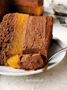 podwójnie czekoladowe ciasto delicja 1 Cornbread, Cheesecake, Sweets, Ethnic Recipes, Baking, Blog, Cakes, Kuchen, Millet Bread