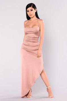 Kera Maxi Dress - Rose Gold