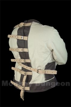 "straight jacket IT'S illegal to use these in WASHINGTON STATE.....  BUT RESTRAINT CHAIRS AND BEDS ARE NOT..... just follow the law because most people will not ""have your back"" if something goes wrong..... From personal experience I know this....."