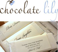 Get 10% Off Custom Chocolate Wedding Favours