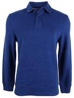Nautica Mens Classic Fit French Ribbed Long Sleeve Polo  #tshirt #shirt #polos #clothing #fashion #poloshirt